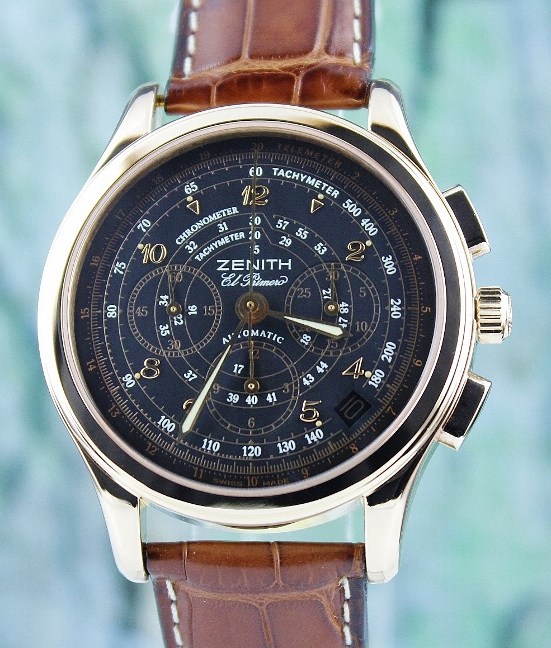 Zenith 18K Rose Gold Chronograph Automatic Watch / 17-0500-400