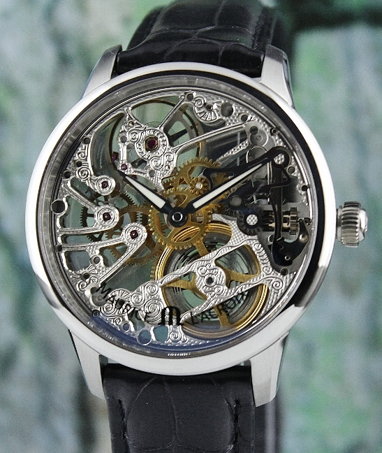 Unworn Maurice Lacroix Masterpiece Squelette Skeleton Manual Winding Watch / MP7208-SS001-000