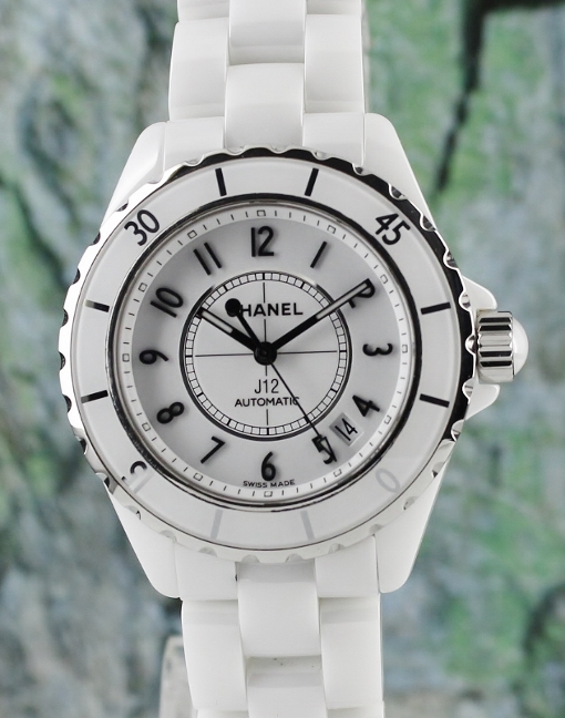 A CHANEL J12 CERAMIC AUTOMATIC WATCH / H0970