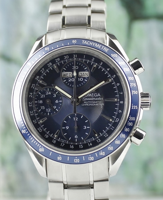 AN OMEGA SPEEDMASTER AUTOMATIC CHRONOGRAPH TRIPLE CALENDAR / 032208000 / CURRENT MODEL