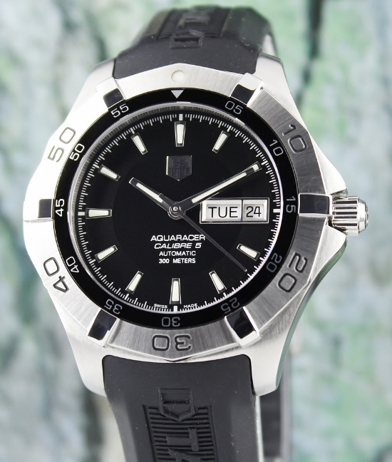 TAG HEUER STAINLESS STEEL AUTOMATIC AQUARACER CALIBRE 5 / WAF2010