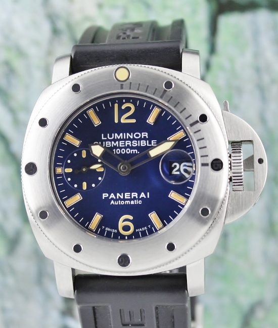 "Like New Unpolished Panerai Pam 87 Luminor Submersible ""G"" Series / Complete Set"
