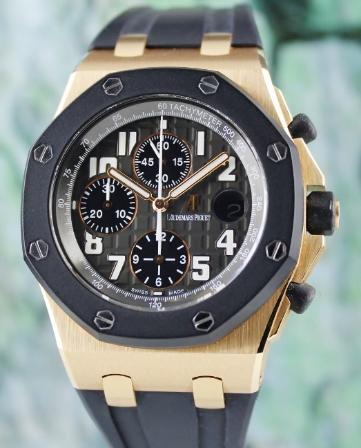 UNPOLISHED AUDEMARS PIGUET 18K ROSE GOLD OFF SHORE CHRONOGRAPH / 25940OK.00.D002CA.02