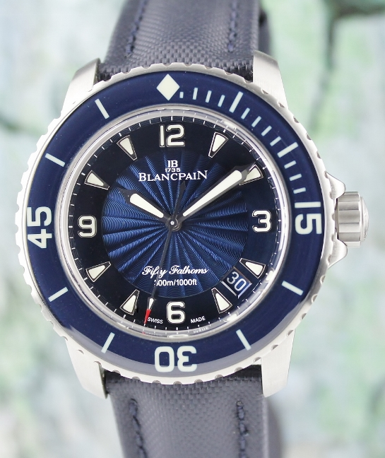 Like New Unpolished Blancpain Fifty Fathoms 45mm Automatic Watch / 5015D-1140-52B