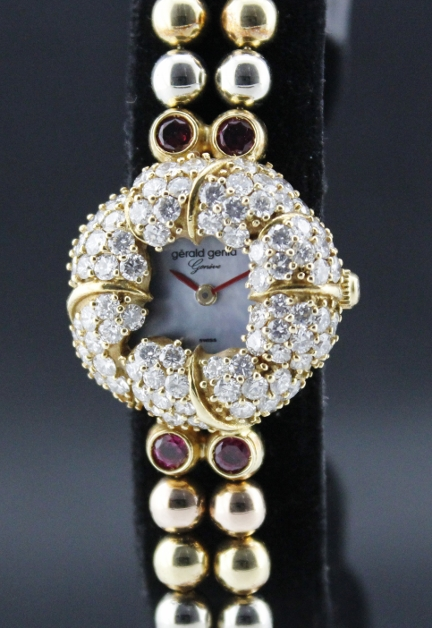 GERALD GENTA 18K SOLID GOLD LADY DIAMOND WATCH