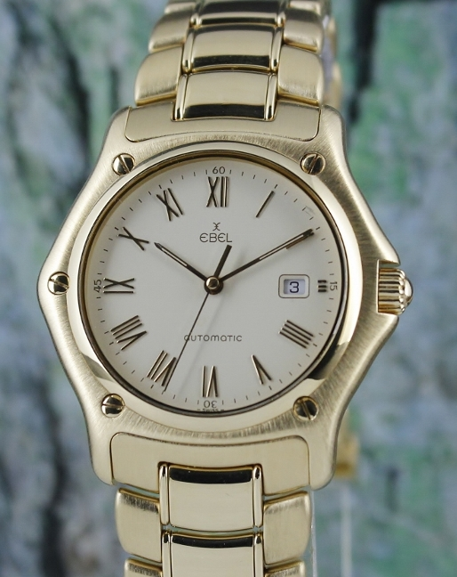 EBEL 1911 18K SOLID YELLOW GOLD AUTOMATIC WATCH / 893902