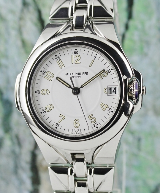 Patek Philippe Sculpture Stainless Steel Automatic Watch / 5091/1A-001