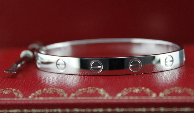 LIKE NEW CARTIER 18K WHITE GOLD LOVE BANGLE