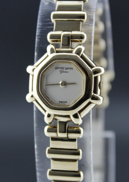 18K GOLD GERALD GENTA MINI LADY WATCH