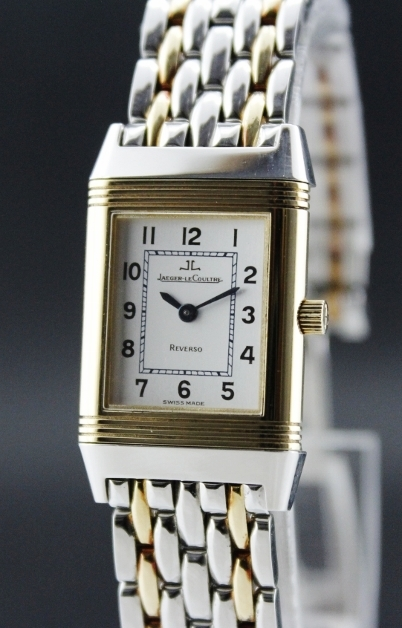 JL 18K SOLID GOLD AND STEEL LADY MANUAL WINDING WATCH
