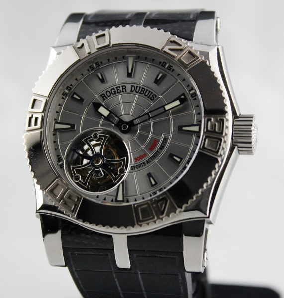 Roger Dubuis 18K White Gold & Steel Easy Diver Tourbillion
