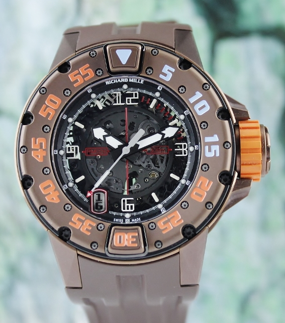 LIKE NEW RICHARD MILLE DIVER BROWN PVD / RM28 AJ TI