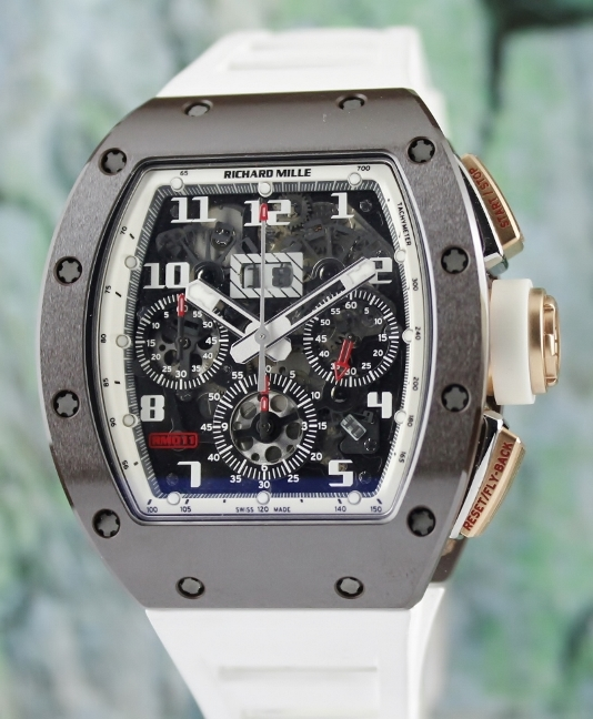 UNWORN RICHARD MILLE RM 011 BROWN CERAMIC ASIA LIMITED EDITION / RM11 AN RG-TZP-Z