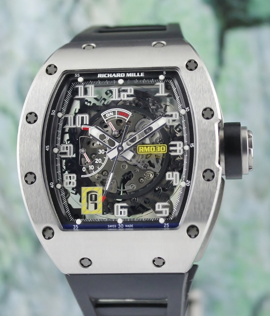 LIKE NEW RICHARD MILLE RM 030 TITAINIUM POWER RESERVE / RM30 AO TI