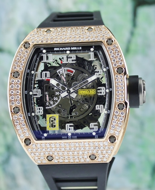 NEW UNWORN RICHARD MILLE RM 030 ROSE GOLD TITANIUM POWER RESERVE / RM30 RG