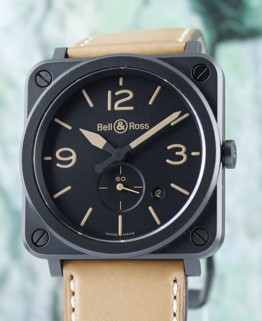 A Bell & Ross Heritage Ceramic Watch / BRS-64-CMBL