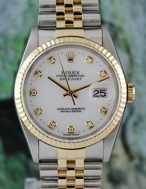 LIKE NEW ROLEX MEN SIZE DATEJUST OYSTER PERPETUAL / 16233 / CERT