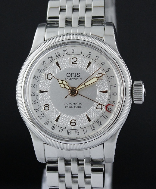 ORIS MEN SIZE AUTOMATIC STAINLESS STEEL WATCH