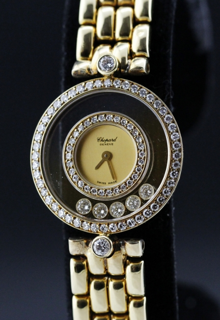 Chopard 18K Lady Yellow Gold Happy Diamond