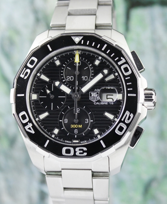 A TAG HEUER MEN SIZE CHRONOGRAPH AUTOMATIC WATCH / CAY211A-0