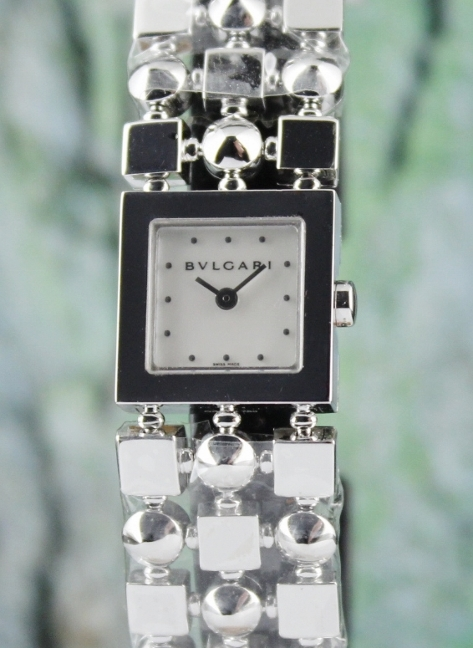 LIKE NEW BVLGARI 18K WHITE GOLD LADY WATCH / LUW18G