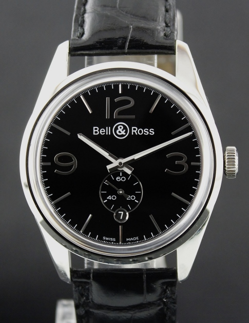 BELL & ROSS STAINLESS STEEL VINTAGE BR123