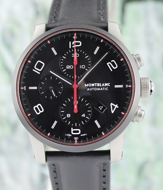 MONT BLANC TIMEWALKER 43MM CERAMIC CHRONOGRAPH WATCH / 112604