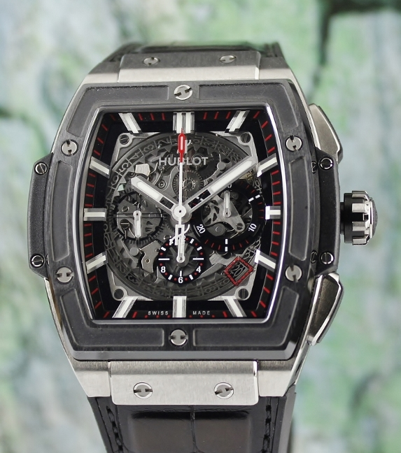 Like New Unpolished Hublot Spirit Of Big Bang Chronograph Watch / 601.NM.0173.LR