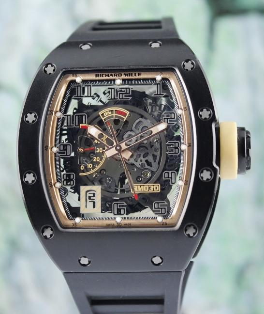 RICHARD MILLE RM 030 POWER RESERVE DLC CARBON BOUTIQUE EDITION [RM 030] -  SGD$0 : HJ Watch & Jewellery - Singapore Reliable Pre-owned Rolex Watch  Dealer