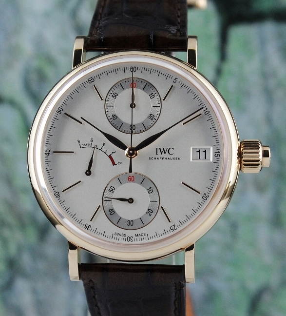IWC Portofino Monopusher Chronograph 18K Rose Gold Watch / IW515104