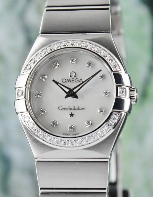AN OMEGA LADY SIZE STAINLESS STEEL CONSTELLATION / 12315276055001
