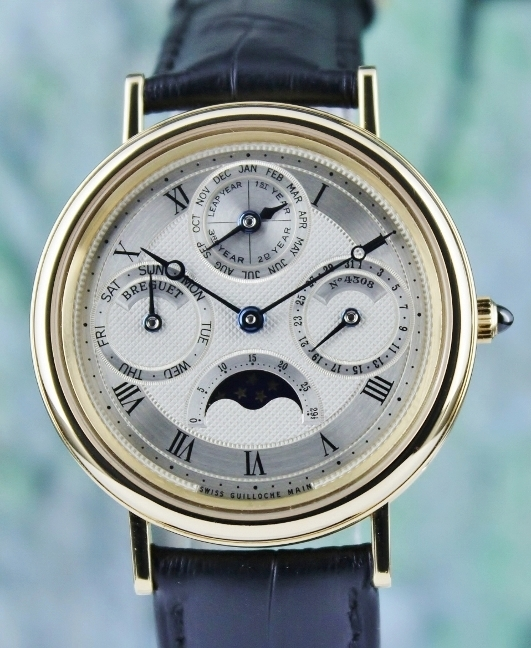 BREGUET CLASSQUE QUANTIEME PERPETUAL 18K YELLOW GOLD AUTOMATIC WATCH / 3057