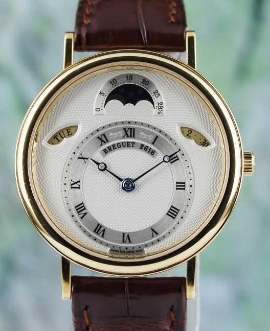 BREGUET CLASSQUE DAY DATE MOONPHASE 18K YELLOW GOLD AUTOMATIC WATCH / 3337