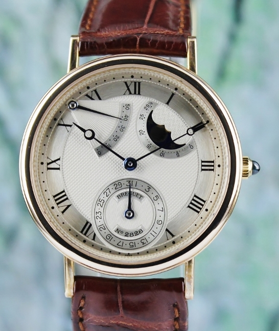 Breguet Classique 18K Rose Gold Power Resreve Moonphases / Watch / 3137 BA