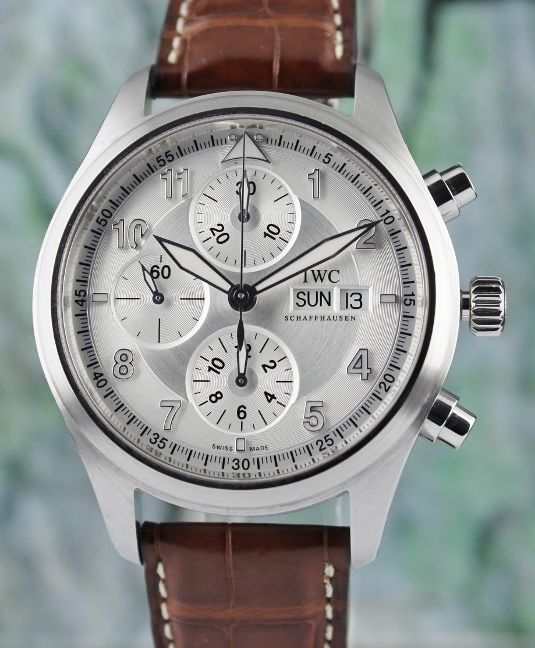 IWC Stainless Steel Pilot's Automatic Chronograph Watch / Ref: 3717-02