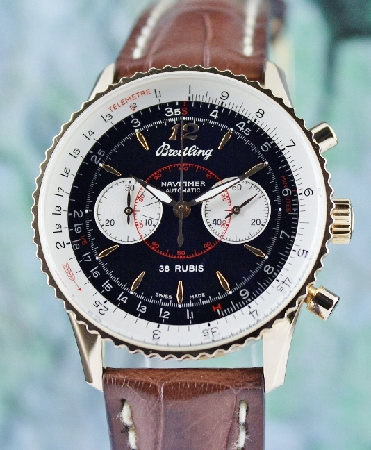 A BREITLING LIMITED EDITION 100 PIECES NAVITIMER 18K ROSE GOLD