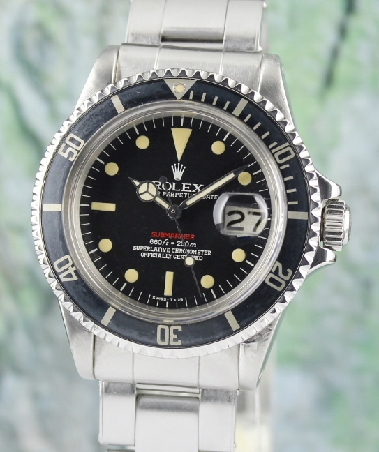 "RARE ROLEX VINTAGE OYSTER PERPETUAL DATE ""RED SUB"" - 1680"