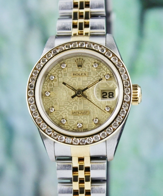 LIKE NEW UNPOLISHED ROLEX LADY SIZE OYSTER PERPETUAL DATEJUST / 69173