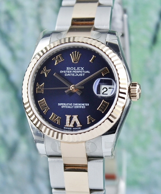 ROLEX MID SIZE 18K PINK GOLD OYSTER PERPETUAL DATEJUST / 178271