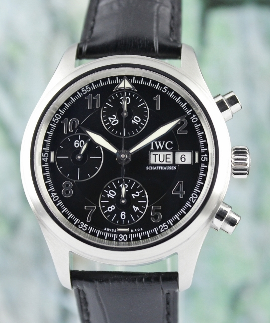 IWC Stainless Steel Flieger Spitfire Automatic Chronograph Watch / 3717