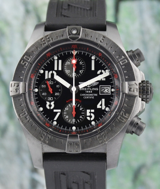 LIMITED EDITION BREITLING BLACK STEEL AVENGER / M13380