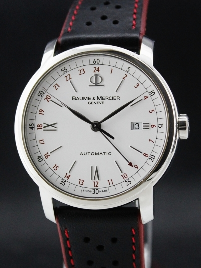 Baume & Mercier Automatic Men Steel GMT Watch