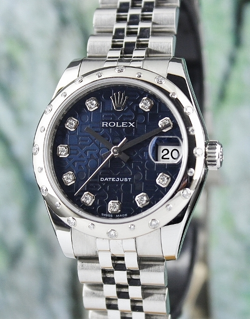 ROLEX MID SIZE STEEL OYSTER PERPETUAL DATEJUST / 178344