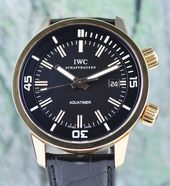 IWC 18K Rose Gold Aquatimer Automatic Watch / IW323107 - Click Image to Close