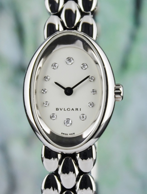 BVLGARI 18K WHITE GOLD LADY WATCH / OVW27G