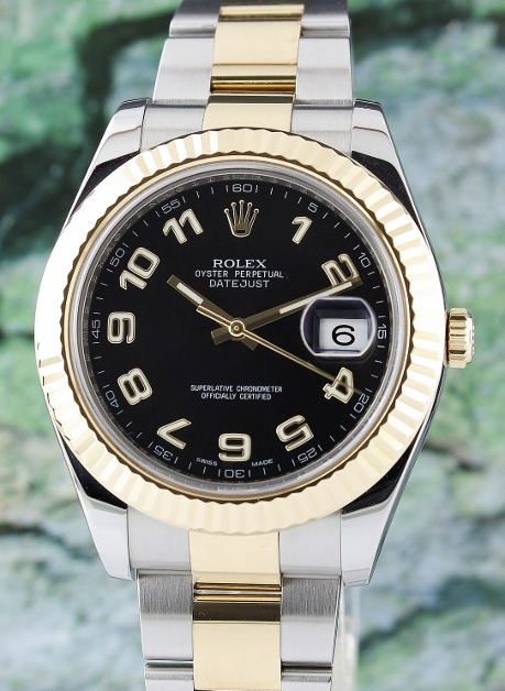 A ROLEX STEEL AND GOLD DATEJUST 2 OYSTER PERPETUAL - 116333