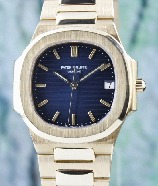 RARE FIND PATEK PHILIPPE 18K YELLOW GOLD NAUTILUS / 3900/1J