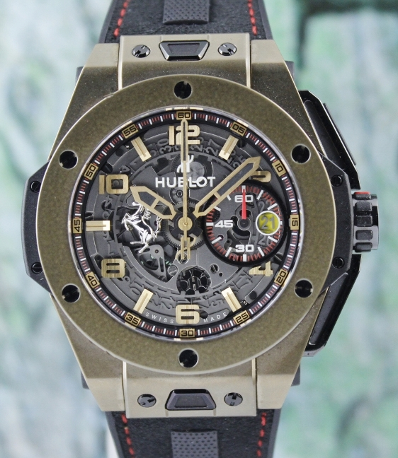 Like New Hublot Big Bang Magic Gold Ferrari / 401.MX.0123.VR