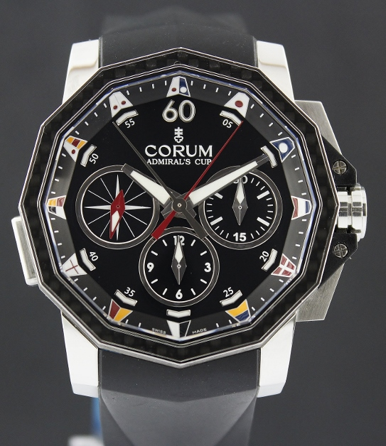 NEW UNWORN CORUM Admiral's Cup Challenge 44 Split-Second chronograph / 986.691.11RS-AN92
