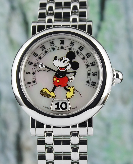A GERALD GENTA MICKEY MOUSE RETRO FANTASY AUTOMATIC WATCH / G3632 / MOP